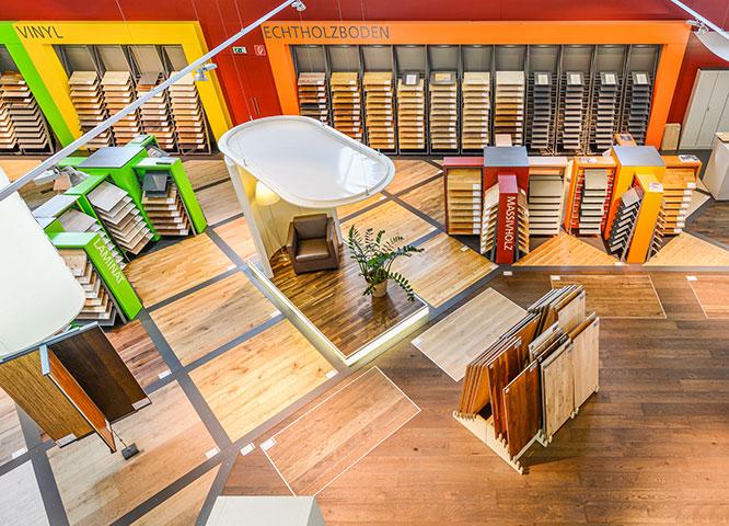 Böden Ausstellung von Holz-Hauff in Leingarten