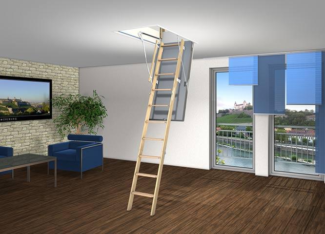 Bodentreppe Leiter von Holz-Hauff in Leingarten