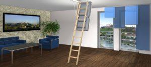 Bodentreppe Leiter Natur von Holz-Hauff in Leingarten