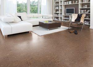 Korkboden im Wohnzimmer mit Holz-Hauff in Leingarten