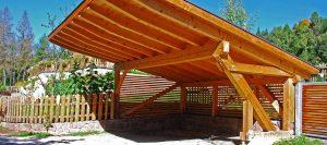 Carports mit langem Dach aus Holz von Holz-Hauff in Leingarten