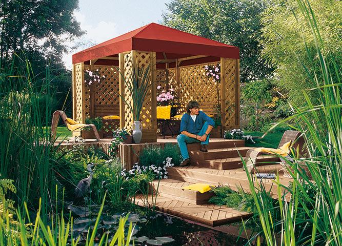 Gartenordnung im Garten mit Pavillons von Holz-Hauff in Leingarten
