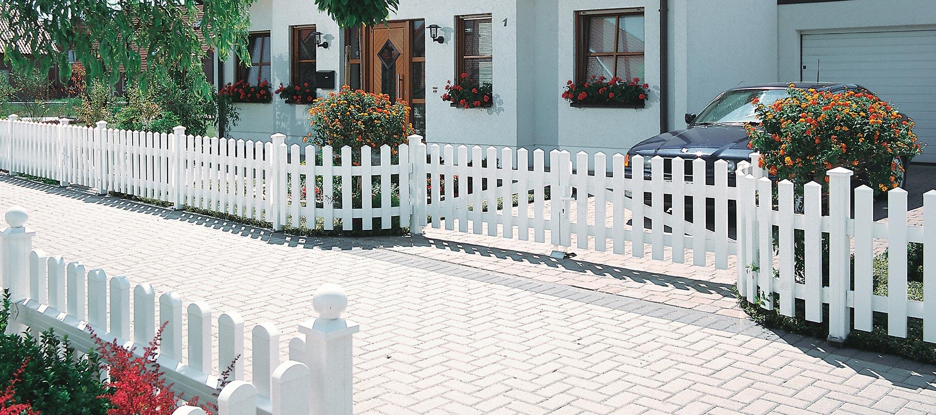 Gartenzäune weiß von Holz-Hauff in Leingarten