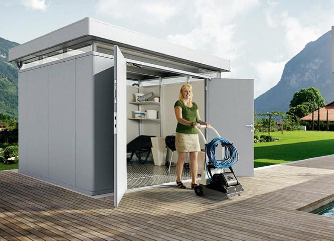 Gartenhäuser Metall Doppeltüren von Holz-Hauff in Leingarten