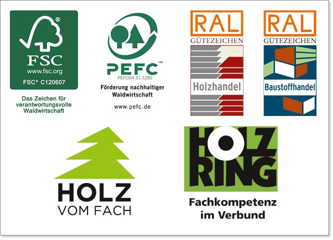 Zertifizierungen in der Geschichte von Holz-Hauff in Leingarten