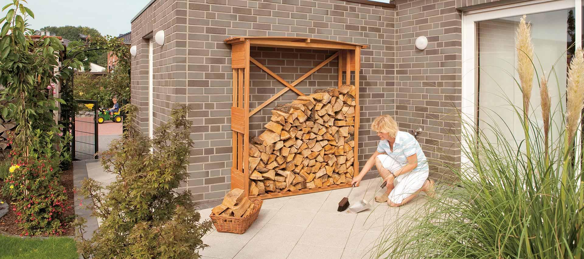 Gartenordnung Kaminholzregal von Holz-Hauff in Leingarten