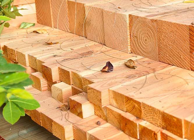 Kanthölzer Einsatz von Holz-Hauff in Leingarten