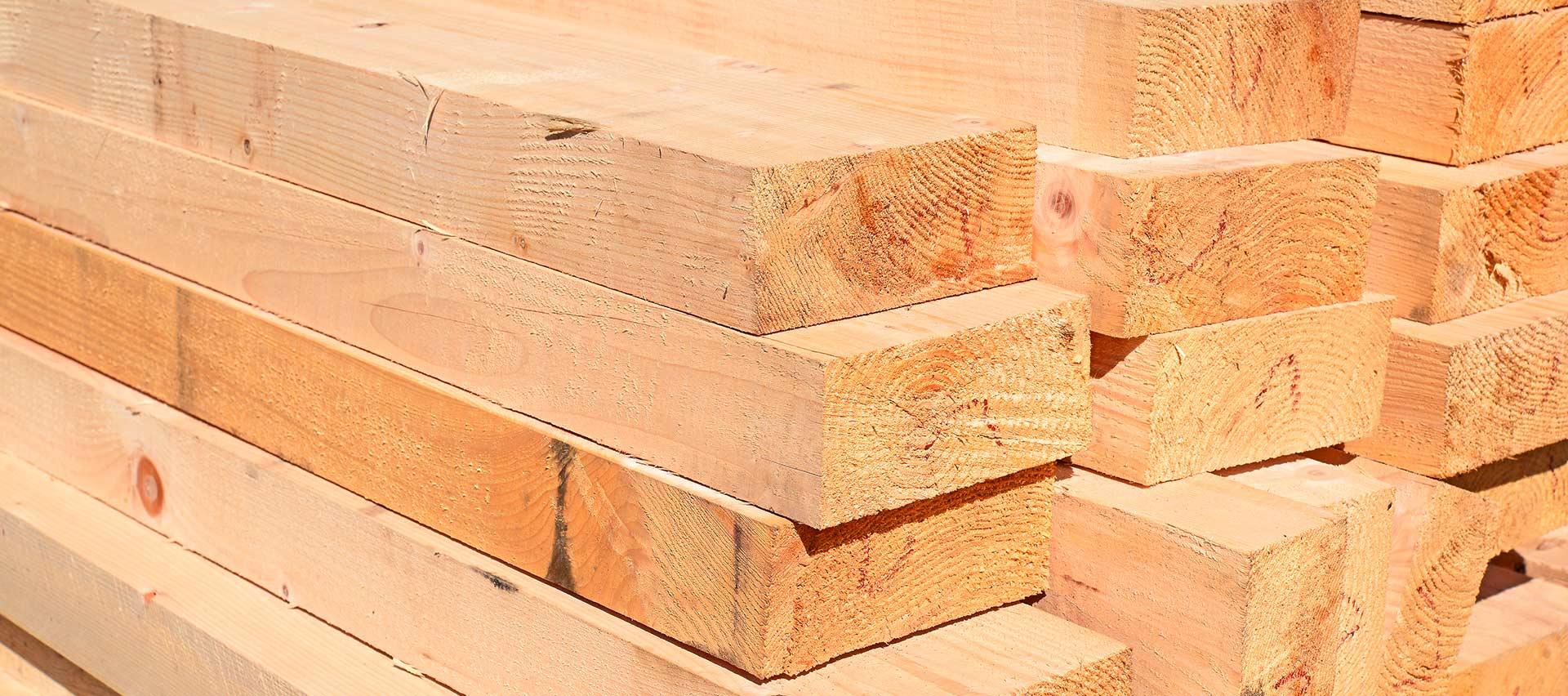 Kanthölzer Detailansicht von Holz-Hauff in Leingarten