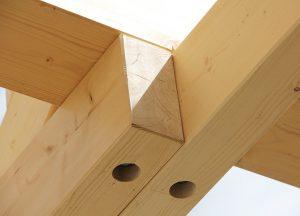 Konstruktionsvollholz im Detail von Holz-Hauff in Leingarten