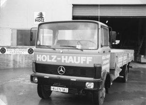 Geschichte von Holz-Hauff in Leingarten mit Lkw Neuzugang