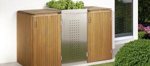 Mülltonnenboxen aus Holz und Metall von Holz-Hauff in Leingarten