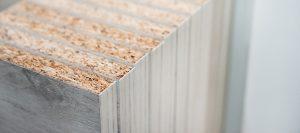Spanplatten Detailansicht von oben bei Holz-Hauff in Leingarten