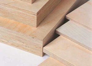 Sperrholz- und Multiplexplatten Detail von Holz-Hauff