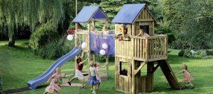 Spielgeräte Spielturm blau von Holz-Hauff in Leingarten