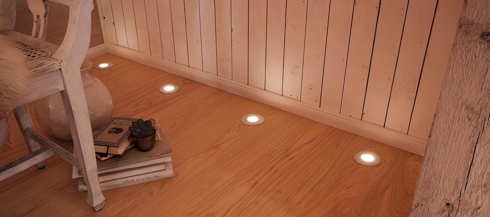 Beleuchtung am Boden von Holz-Hauff in Leingarten