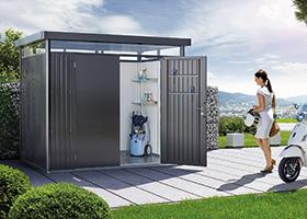 Gartenhäuser aus Holz oder Metall bei Holz-Hauff in Leingarten
