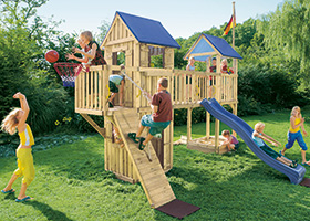 Sichere Gartenspielgeräte bei Holz-Hauff in Leingarten
