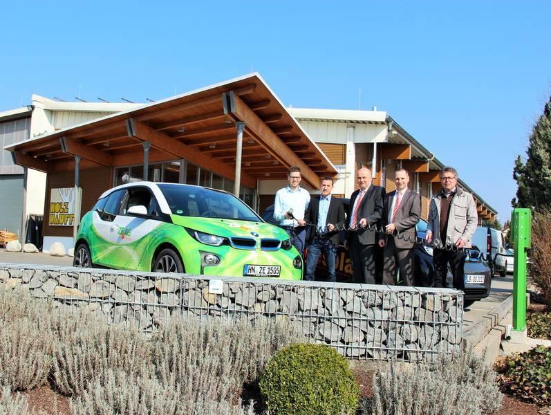 E-Tankstelle bei Holz-Hauff in Leingarten hat eröffnet