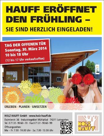Tag der offenen Tür 2014 bei Holz-Hauff in Leingarten