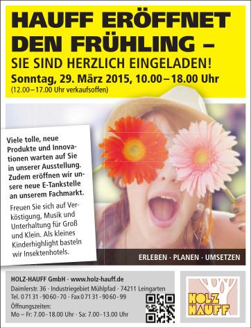 Tag der offenen Tür 2015 bei Holz-Hauff in Leingarten