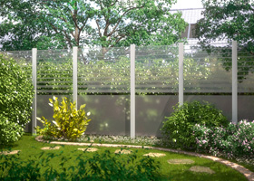 Sichtschutz aus Glas bei Holz-Hauff in Leingarten