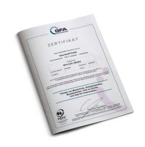 Zertifikat PEFC von Holz-Hauff in Leingarten