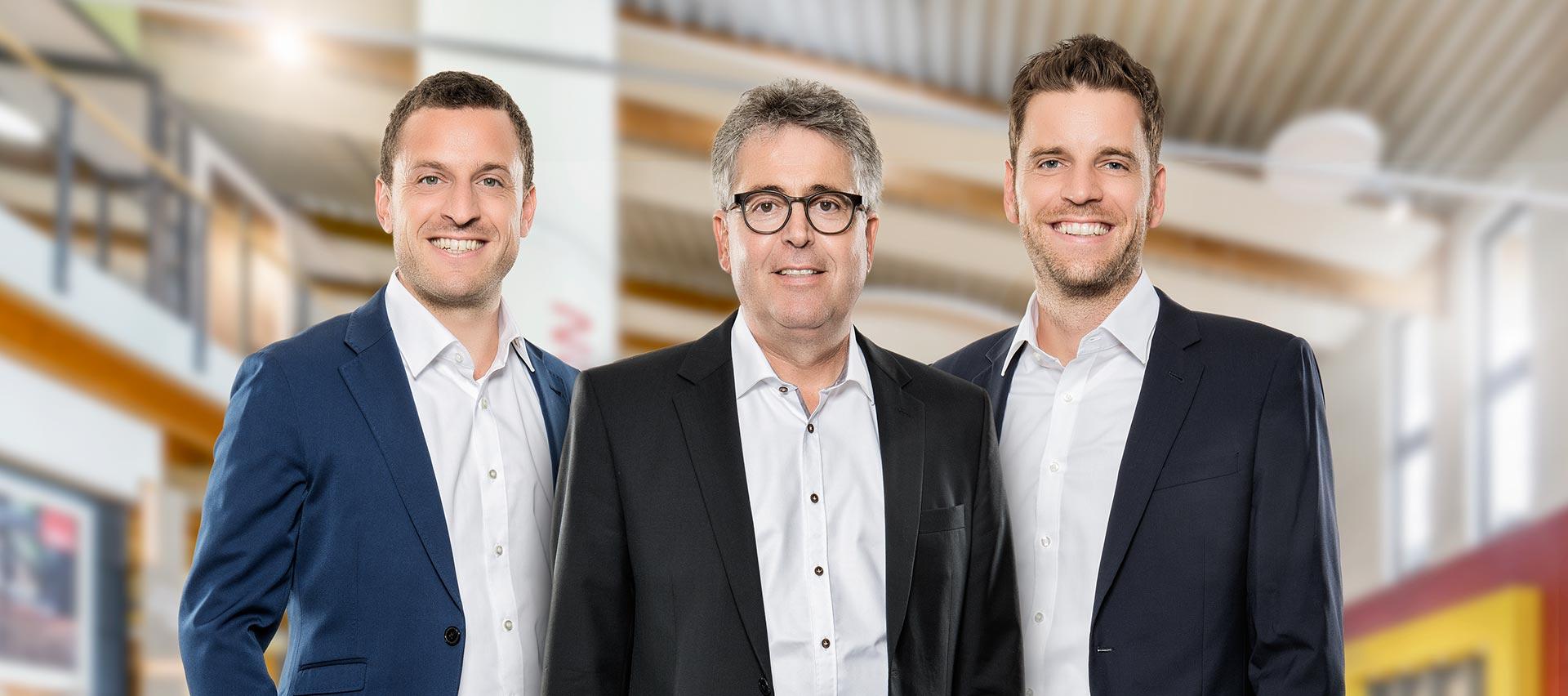 Fabian, Werner und Sebastian Hauff, Geschäftsführer von Holz-Hauff