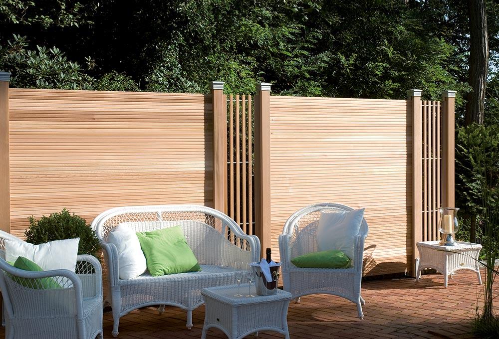 Sichtschutz im Garten bei Holz-Hauff in Leingarten