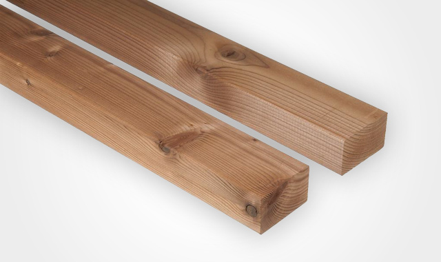 Terrassendielen Thermo Fichte Unterkonstruktion von Holz Hauff