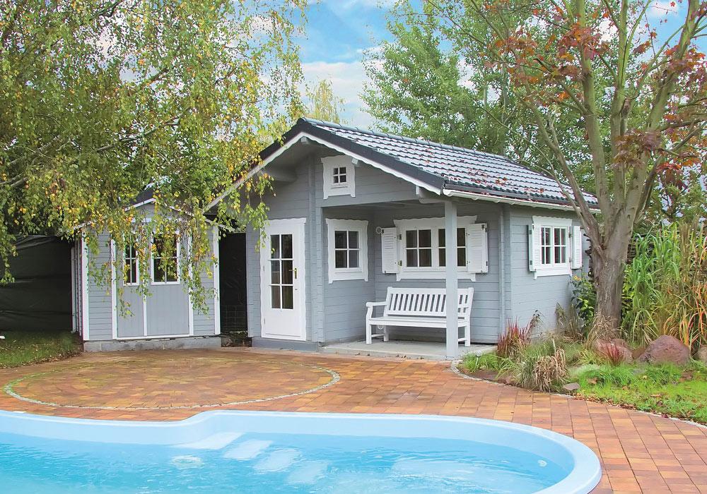 Gartenhaus mit Pool über Holz-Hauff in Leingarten