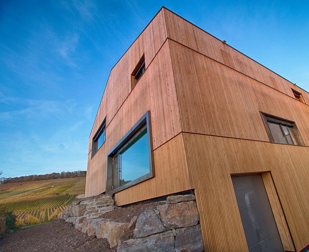 Weingut Albrecht Kiessling | Fassadenvergleidung Tanne