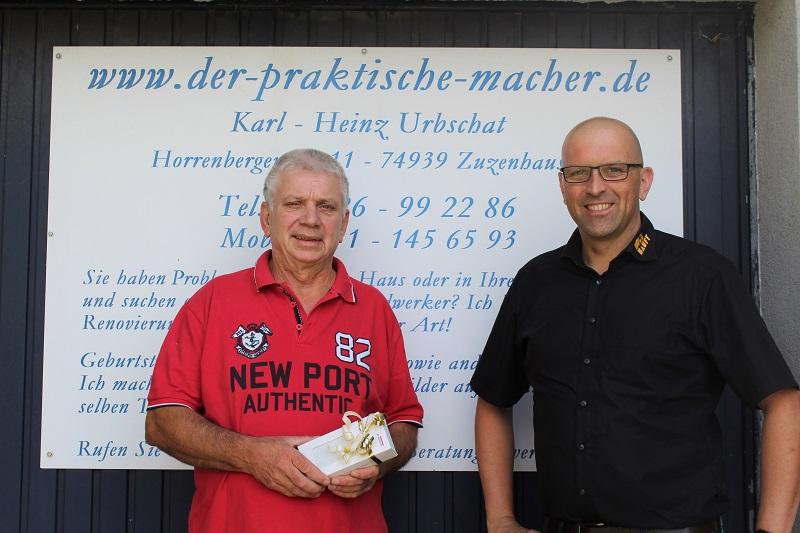 5. Platz Fa. Karl-Heinz Urbschat aus Zuzenhausen