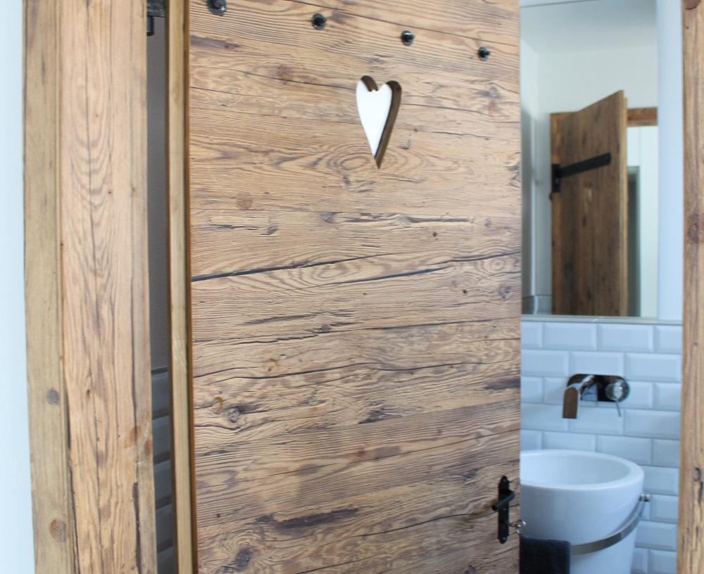 Altholzplatte WC Tür, Jochen Haas, Privathaus Nordheim