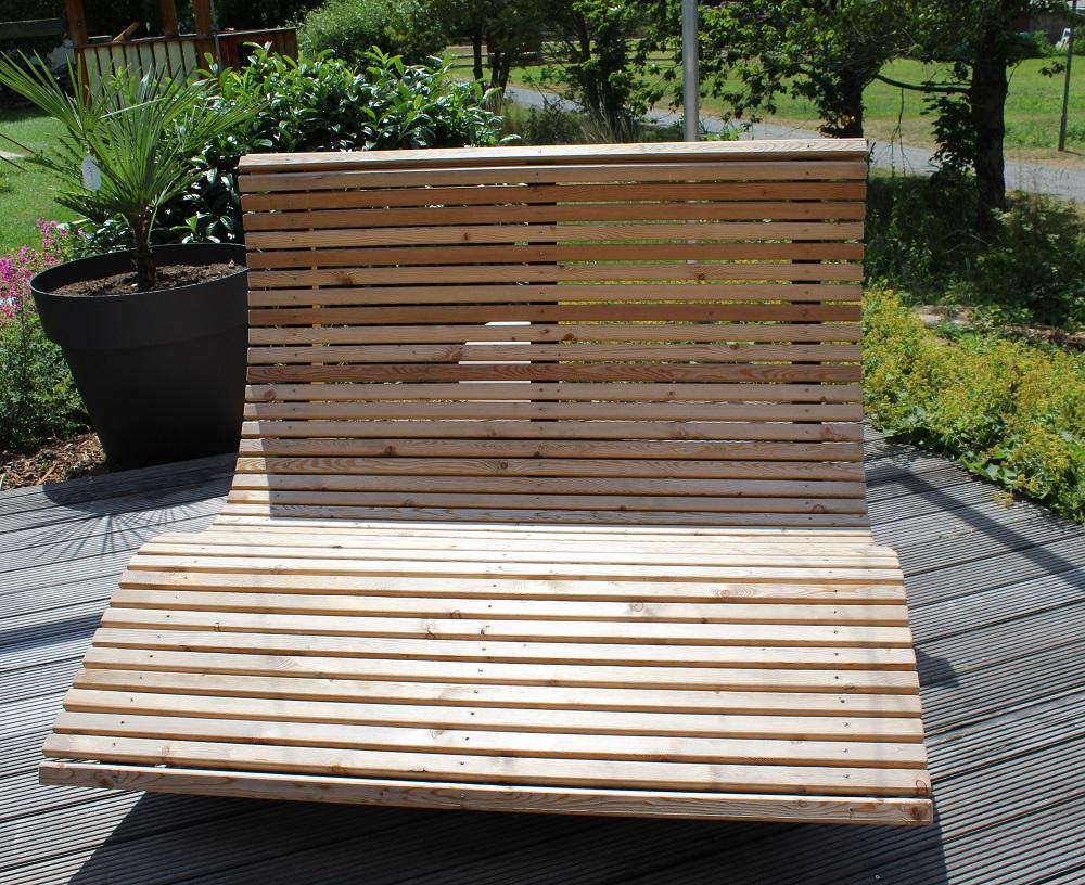 Garten Liegestuhl aus gehobelten 4-kant Leisten