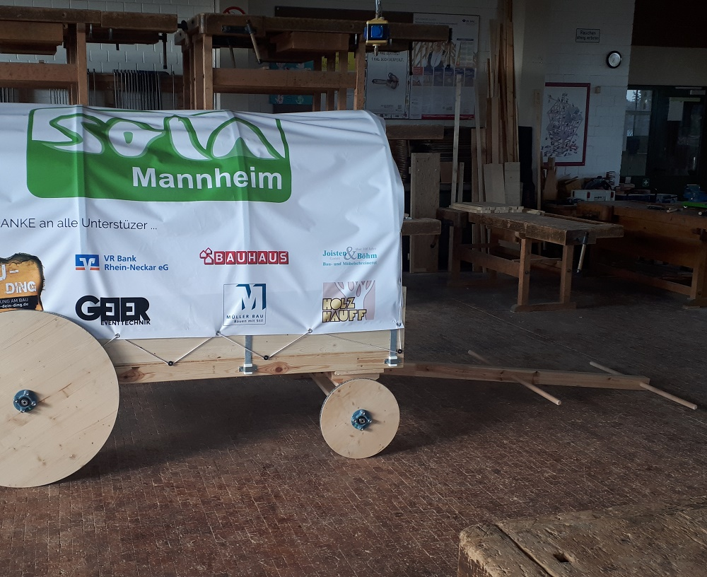 Planwagen für das SOLA Mannheim