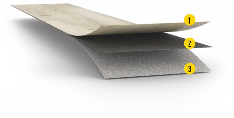 Vinylboden ohne Vinyl | Aufbau MeisterDesign. pro | Designböden bei Holz-Hauff in Leingarten