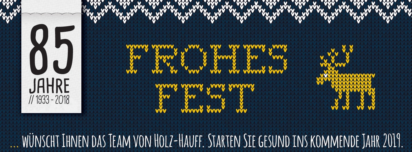 Frohe Weihnachten wünscht die Holz-Hauff GmbH
