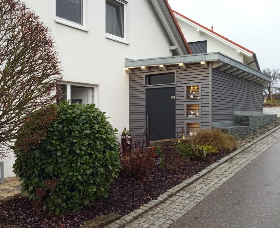 Fassade aus Rhombusleisten | Holz-Hauff GmbH in Leingarten