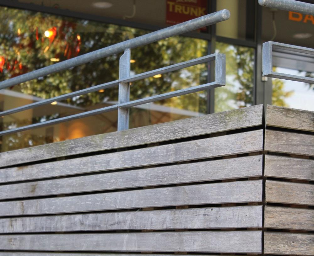 Verkleidung aus Rombusleisten Walaba | Holz-Hauff GmbH