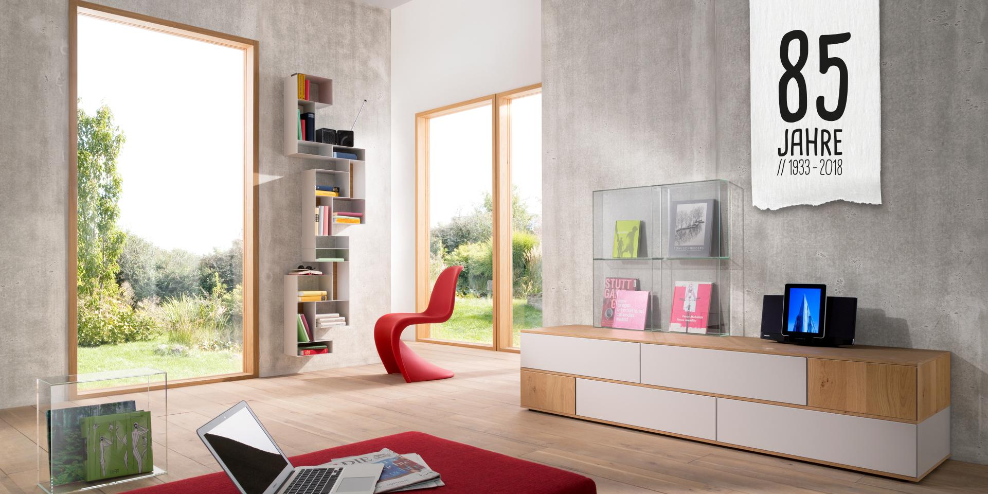 imi-Beton | Wandgestaltung bei Holz-Hauff in Leingarten | 85 Jahre