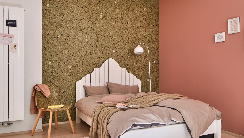 Organoid-Tapete | Wandgestaltung bei Holz-Hauff in Leingarten | 85 Jahre