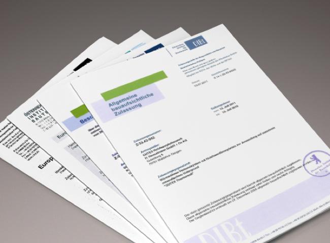 Zertifikate für GUTEX Holzweichfaserplatten | Holz Hauff Leingarten