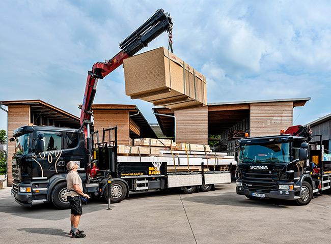 Lieferung   Privatkunden   Holz-Hauff in Leingarten