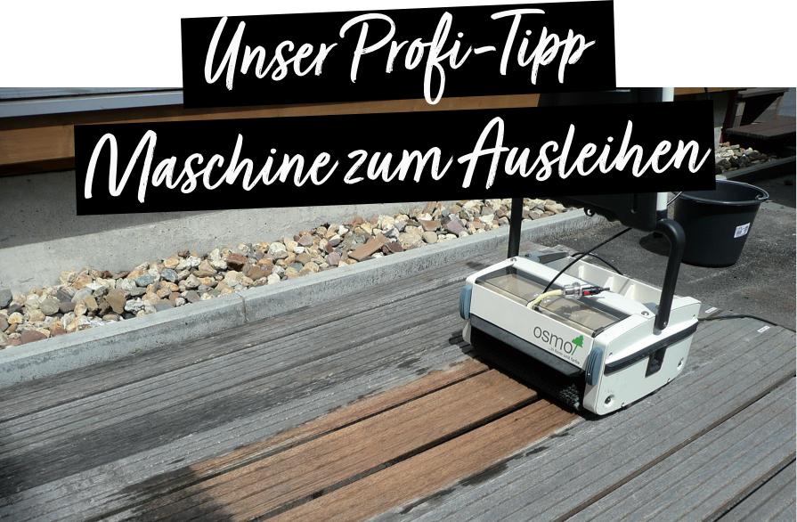 Terrassenpflege mit Reinigungsmaschine von OSMO | Holz-Hauff in Leingarten