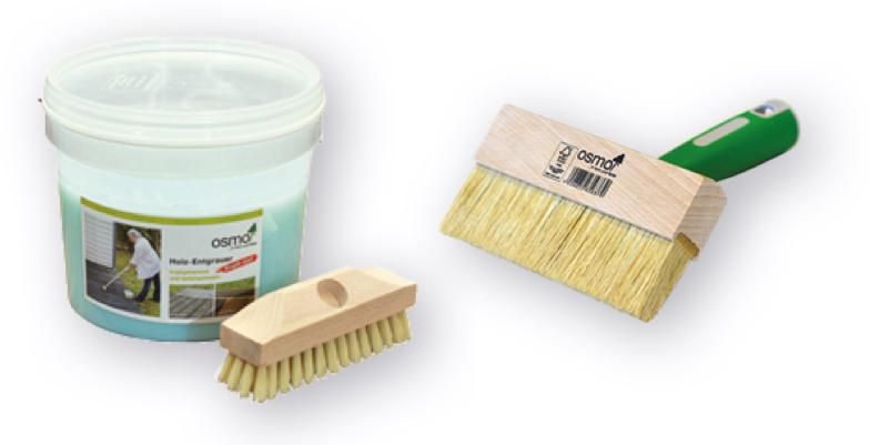 Terrassenpflege mit Entgrauer-Kraftgel von OSMO | Holz-Hauff in Leingarten