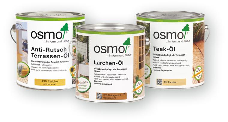 Terrassenpflege mit Terrassenöl von OSMO | Holz-Hauff in Leingarten