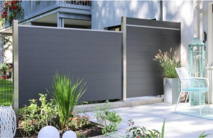 Sichtschutz mit System | Flexible Breite und Höhe | Holz-Hauff in Leingarten