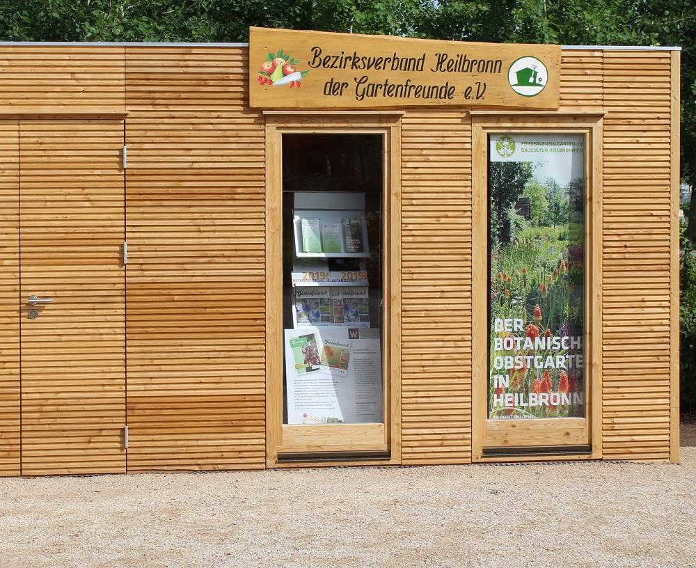 Bertsch Gartenhaus Kubus auf der Bundesgartenschau Heilbronn von Holz-Hauff GmbH in Leingarten
