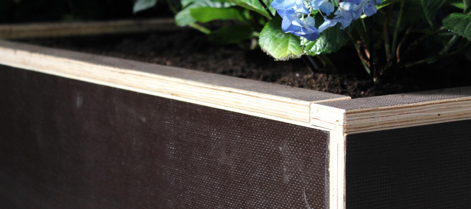 Pflanzbeete aus Siebdruckplatten auf der Bundesgartenschau Heilbronn von Holz-Hauff GmbH in Leingarten