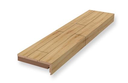 Stufenkantenprofil, einmal eingeschlagen | Neubau | Holz-Hauff in Leingarten